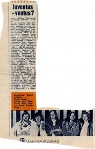 Juventus újságcikk 1971.